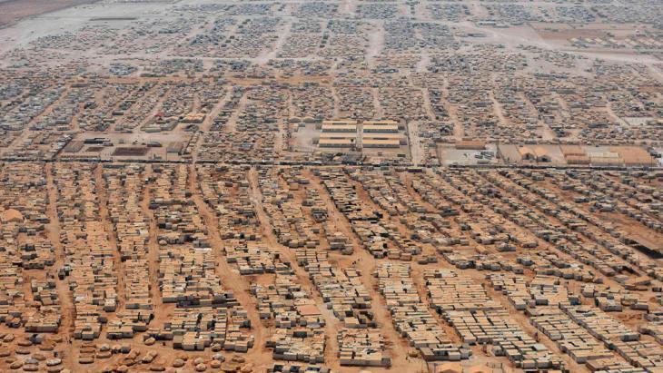مخيم الزعتري للاجئين السوريين شمال الأردن. © Reuters/Mandel Ngan