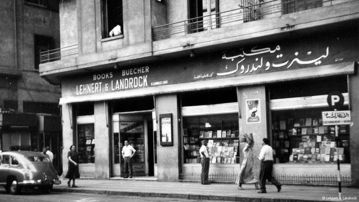 المكتبة الألمانية العريقة في ميدان التحرير بوسط القاهرة. photo: Lehnert & Landrock