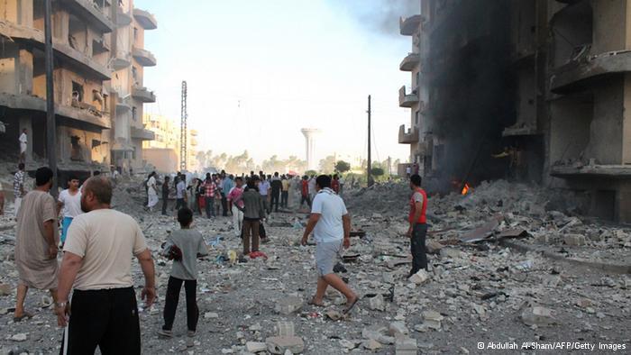 مدينة سورية مدمرة