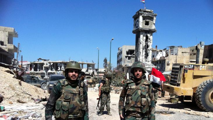 الجيش السوري في بلدة القُصَيْر. Foto: AFP/Getty Images