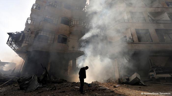 منازل مدمرة في حمص وسط سوريا. Foto: Reuters
