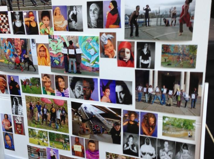 صورة لوجوه من كل أنحاء العالم في قصر بلفو في برلين.  Foto: Fabian Pianka