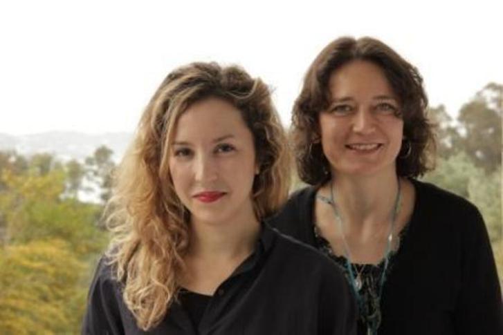 المرشدة الألمانية سيمونه بريشت (يسار) والشابة التونسية ياسمين صفار.  Foto: EMA e.V