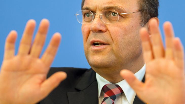 وزير الداخلية الألماني فريدريش. Foto: dpa/picture-alliance