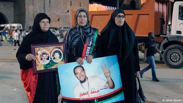 من أمهات الشهداء في ليبيا.  photo: Valerie Stocker