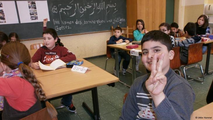 في أحد دروس التربية الإسلامية للتلاميذ المسلمين في ولاية شمال الراين ويستفاليا غرب ألمانيا. Foto: Ulrike Hummel/DW