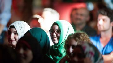 جمهور في أحد عروض الآي صلام. photo: Arne List/DW