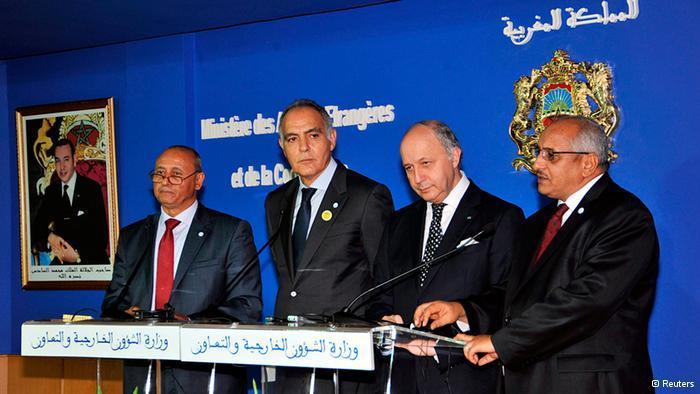وزراء خارجية المغرب وفرنسا وليبيا ومالي