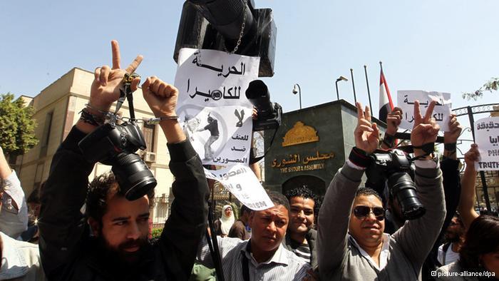 وسائل الإعلام المصرية أبواق للجيش