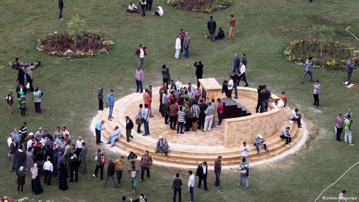 النصب التذكاري لضحايا الثورة الاحتجاجية بميدان التحرير في قلب العاصمة المصرية القاهرة. Foto: picture-alliance/dpa