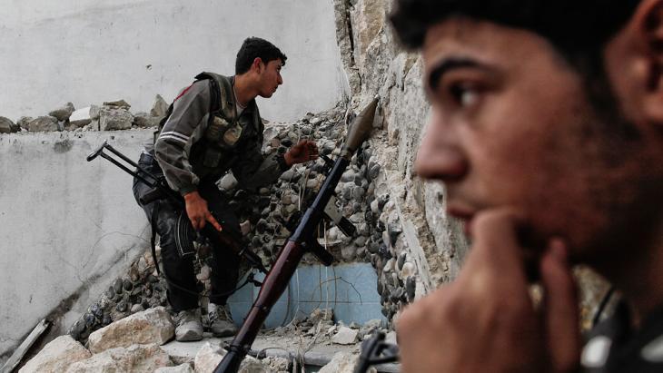مقاتلون ثوار في حلب. Foto: Javier Manzano/AFP/Getty Images