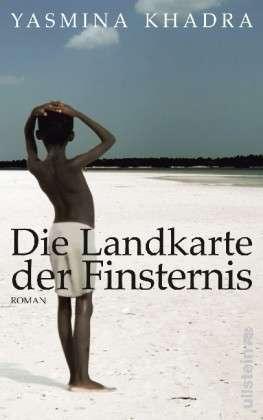 """غلاف النسخة الألمانية لرواية ياسمين خضرا ذات العنوان الألماني Die Landkarte der Finsternis """"خارطة الظلام"""""""