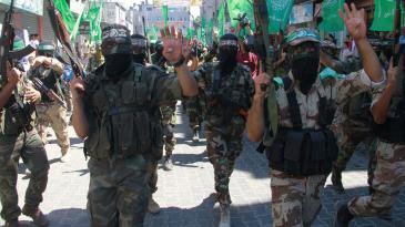 مسيرة عسكرية تابعة لحركة حماس في غزة. Foto: jerusalem.net