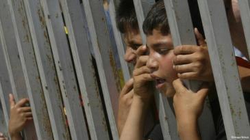 أطفال فلسطينيون في الضفة الغربية. Foto: imago/Xinhua