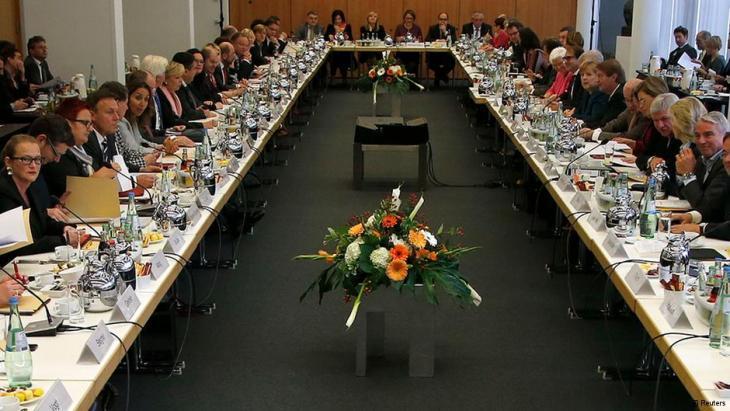 مفاوضات بين الأحزاب الألمانية على تشكيل حكومة ائتلافية. Foto:Reuters