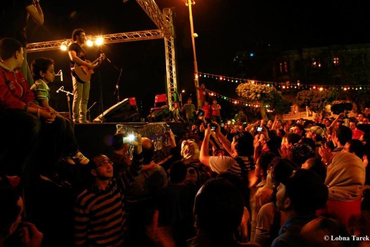 حفلة موسيقية في مهرجان الفن ميدان، بالقاهرة 2012.  Photographer : Lobna Tarek