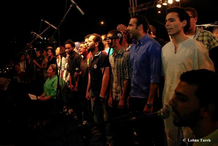 مشروع فرقة كورال الغنائية للهواة، بالقاهرة 2012.  Photographer : Lobna Tarek