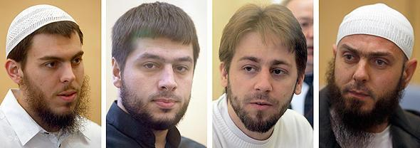 """The members of the so-called """"Sauerland Group"""" in court (photo: picture-alliance/dpa)"""
