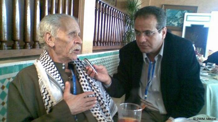 الشاعر المصري أحمد فؤاد نجم في حوار مع الصحفي محمد مسعاد في المغرب عام 2009