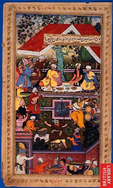 نمط جهار باغ أي الحدائق الأربع من كابول. image: British Library/Wikipedia/Creative Commons