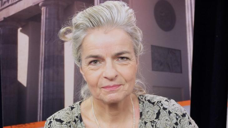 الكاتبة الألمانية: شارلوته فيدمان. Foto: DW