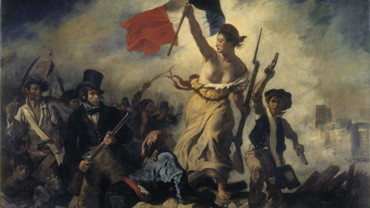 لوحة تعبيرية بعنوان (الحرية تقود الناس) بتاريخ 1830. source: DW Archive
