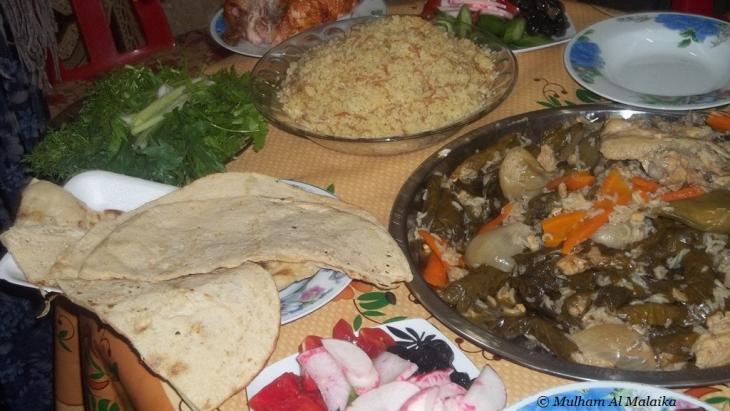 طعام في أحد بيوت الأيزيديين في كردستان العراق.  Mulham Al Malaika ©