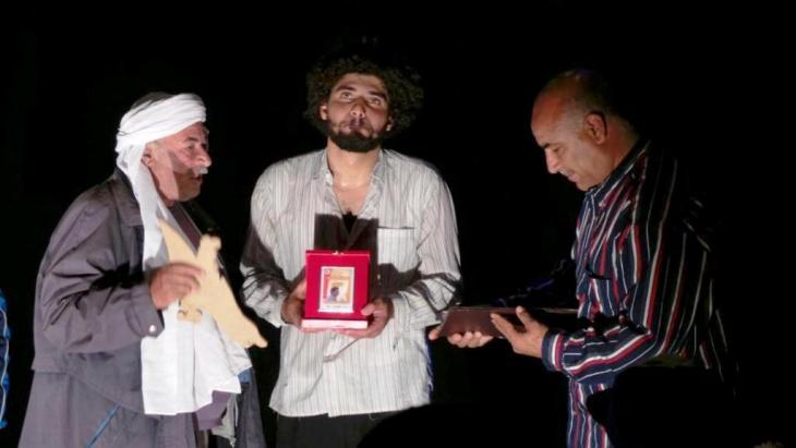 تكريم قاسم اسطنبولي في مدينة دوز جنوب تونس. © Mohamed Rajeb