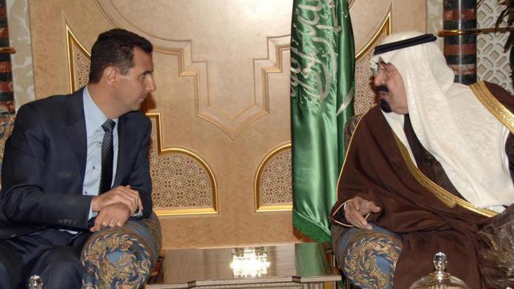 العاهل السعودي عبد الله بن عبد العزيز والرئيس السوري بشار الأسد. بتاريخ 01 / 2010 . photo: dpa