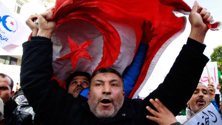 Anhänger der Ennahda in Tunis; Foto: Reuters