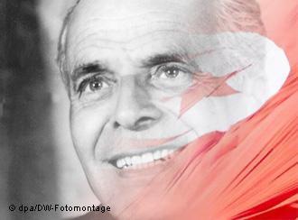 يعتبر السياسي التونسي الحبيب بورقيبة مؤسس تونس الحديثة. Foto: dpa/DW-Fotomontage