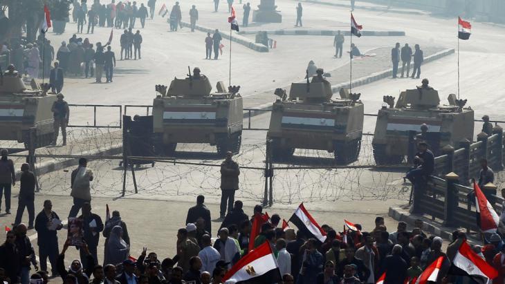 Demonstration von Anhängern der politischen Führung in Kairo am 3. Revolutionsfeiertag; Foto: Reuters