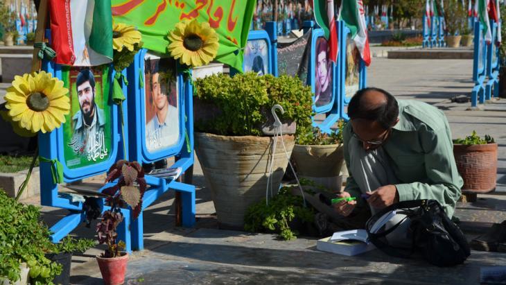مقبرة الشهداء في إيران. Foto: Hartmut Niemann