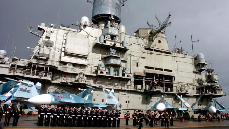 القاعدة البحرية الروسية في طرطوس. Foto: picture-alliance/dpa