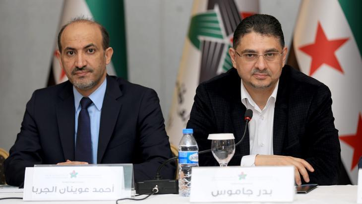 Ahmed al-Jarba (left) and Badr Jamous of the Syrian National Coalition (photo: dpa/picture-alliance)