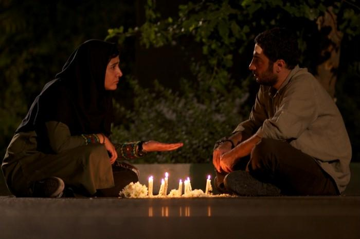 "Baran Kosari and Navid Mohammadzadeh in a still from the Iranian film ""Asabani Nistam!"" (I'm not angry!)"