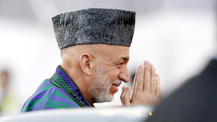 الرئيس الأفغاني حامد كرزاي. Foto: picture-alliance/dpa