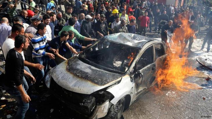 Car bomb attack in Beirut (photo: Reuters)