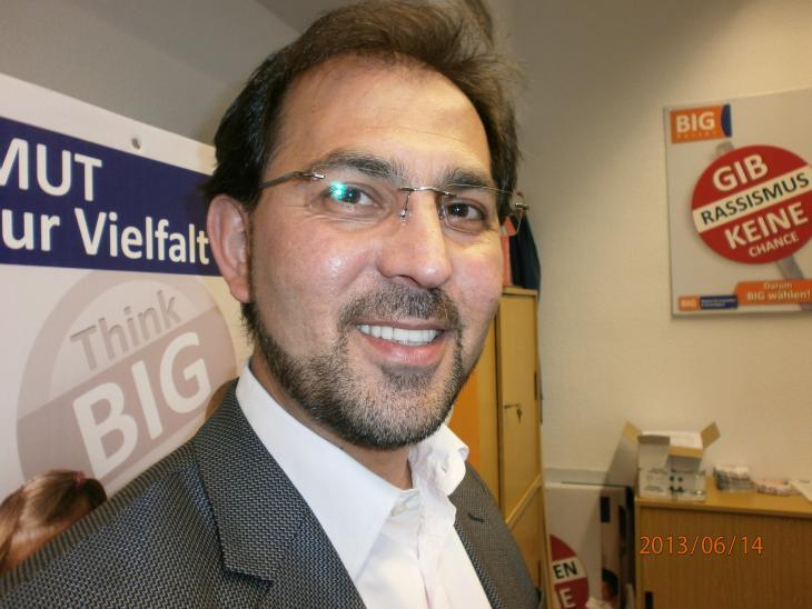 """Haluk Yildiz; Bundesvorsitzender des """"Bündnis für Innovation und Gerechtigkeit"""" (BIG); Foto: Ulrike Hummel"""