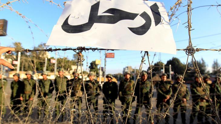 أمام القصر الرئاسي في القاهرة ديسمبر/ كانون الأول 2012. Foto: Reuters