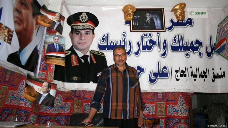 Wahlkampfhelfer Atef El Zaabalawy in Gamalija, Kairo; Foto: Markus Symank