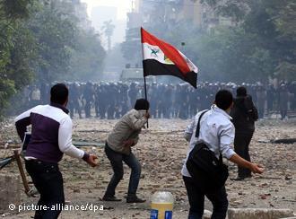 اضطرابات في محمد محمود عام 2011.  Foto: dpa/picture alliance