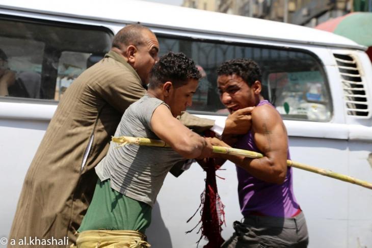 صراع على الطريق في القاهرة 2014. A. Alkhashali