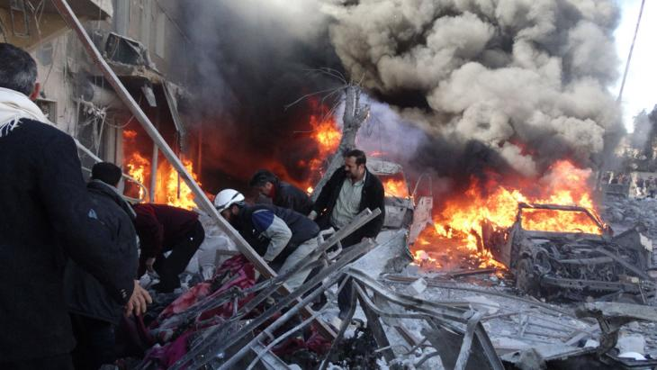 الاسد انتخب على أطلال براميل النظام السوري المتفجرة; Foto: Getty Images