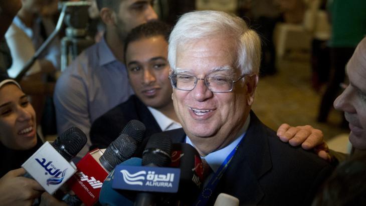 في القاهرة، ماريو دافيد رئيس لجنة المراقبين الأوروبيين للانتخابات المصرية 2014. Foto: AFP/Getty Images