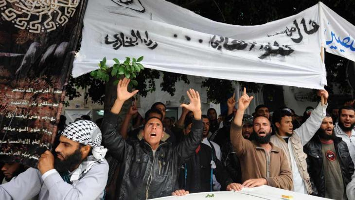 Salafists in Tunis (photo: FETHI BELAID/AFP/Getty Images)