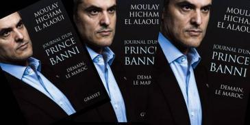 Photo montage of the cover of Prince Moulay Hicham el Alaoui's book