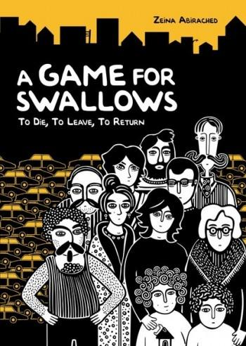 """Cover of """"A Game for Swallows"""" by Zeina Abirached, published by Graphic Universe"""