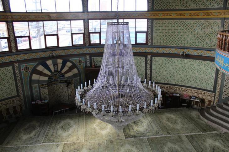 Blick in den Innenraum der Moschee von der Galerie aus; Foto: Ekrem Güzeldere