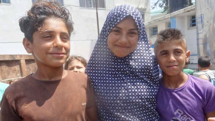 أطفال في أحدى مدارس الأنوروا  في غزة. Foto: DW/Bettina Marx